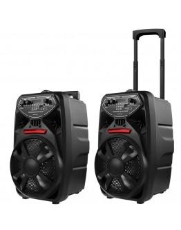 Преносима Bluetooth караоке тонколона PK-09 с FM радио, MP3 и безжичен микрофон