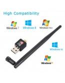WiFi адаптер 150Mbps 2.4 GHz 802.11 за компютри и лаптопи Wireless USB Adapter