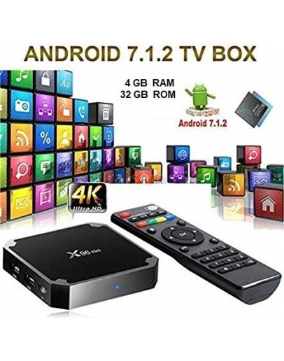 Смарт Андроид ТВ бокс - Smart TV BOX X96 mini, 4GB RAM, 32 GB ROM