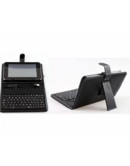 """Универсален калъф за таблет 10"""" с вградена кирилизирана клавиатура с USB и micro USB кабел за връзка"""