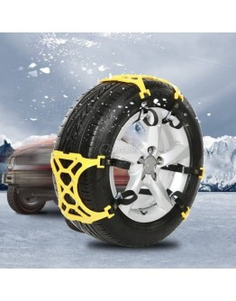 ПВЦ вериги за сняг 6 броя тип меча стъпка, лесно и бързо поставяне